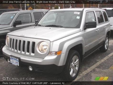 silver jeep patriot interior bright silver metallic 2012 jeep patriot latitude 4x4