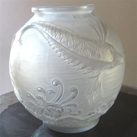 deco glass vase signed by lorrain at 1stdibs