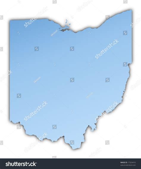 usa light map ohio usa map light blue map with shadow high resolution
