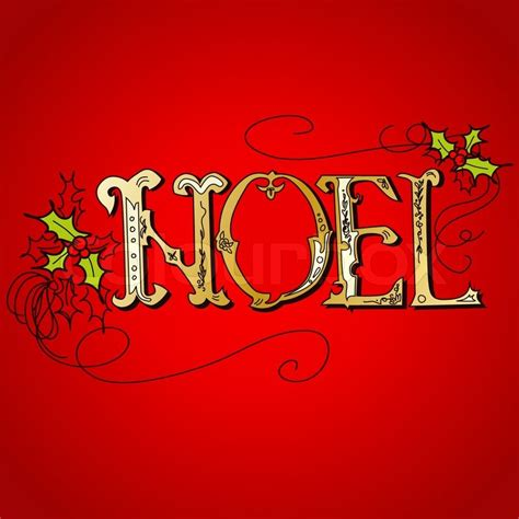 images of christmas noel vintage christmas card noel lettering stock vector