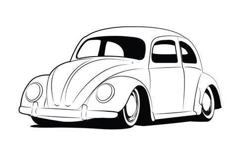old volkswagen drawing line art cars cliparts co