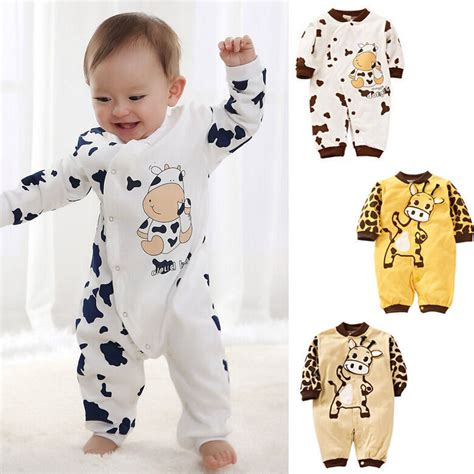 Dress Baby Anak 0 24 Bln 2 cow newborn boys clothes baby infant romper clothes 0 24m au in clothing sets