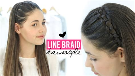 braids updo for short hairstep by step line braid hairstyle tutorial step by step youtube