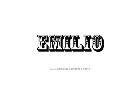 tattoo name emilio emilio name tattoo designs