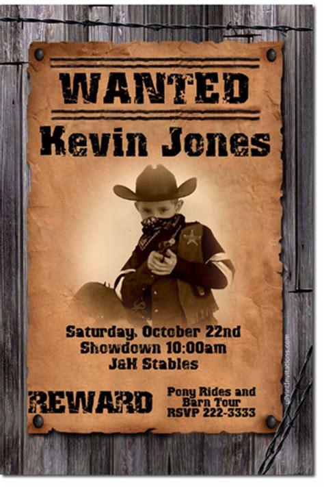 Cowgirl Birthday Invitations Choose Cowgirl Design Online Uprintinvitations On Artfire Wanted Birthday Invitation Template