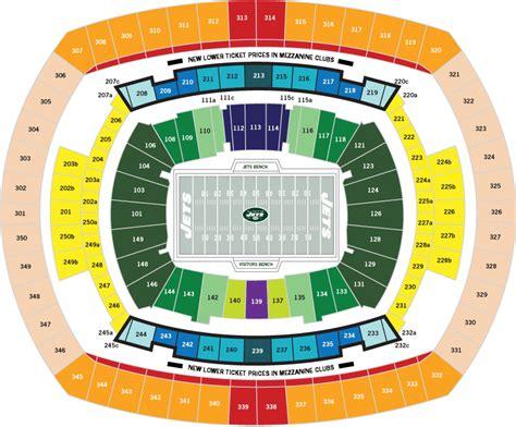 metlife stadium seating chart jets metlife stadium e rutherford nj seating chart view