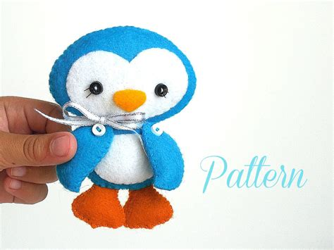 penguin christmas ornament pdf sewing pattern ornament
