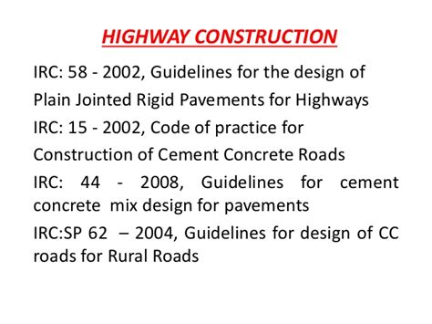 design criteria for rigid pavement pavements ppt