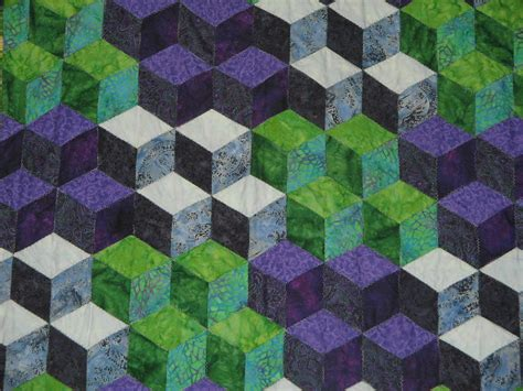 Free Tumbling Blocks Quilt Pattern by Free Tumbling Block Quilt Pattern 171 Design Patterns