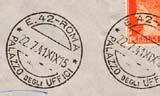 numero frazionario ufficio postale bolli e datari postali