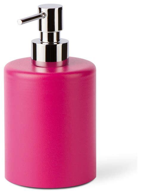 lotion dispensers bathroom saon 44018 liquid soap dispenser in painted aluminum pink contemporary soap