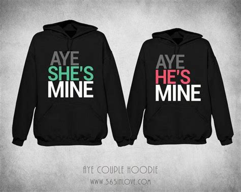 Matching Jackets For Couples Matching Hoodie Aye He S Mine Aye She S Mine