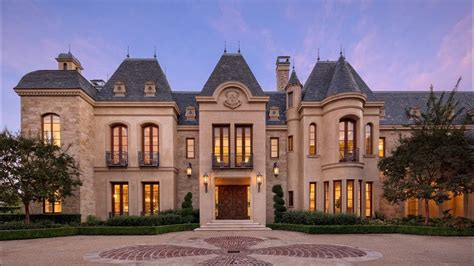 grand chateau style mega mansion in beverly