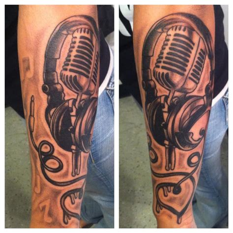 headphone tattoos microphone headphone by mattkorotney on deviantart