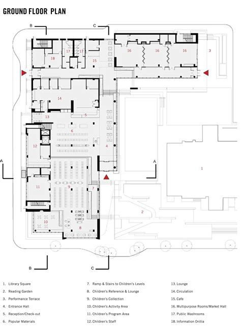 Large Floor Plans gallery of orillia public library perkins will 25