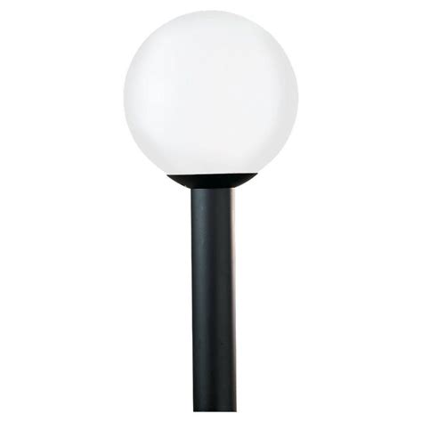 Outdoor Light Globes Sea Gull Lighting Outdoor Globe Collection 1 Light Outdoor Post Lantern 8254 68 The Home Depot