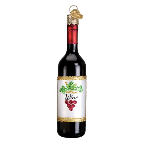 wine ornaments wine bottle 32291 world ornament