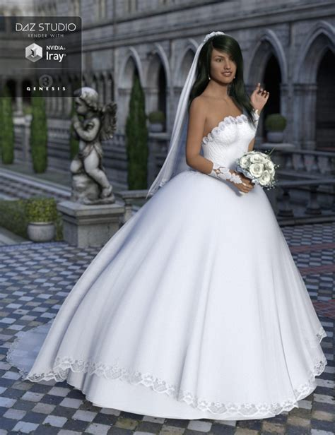 Wedding Models by Wedding Dress For Genesis 3 S 3d Models And 3d