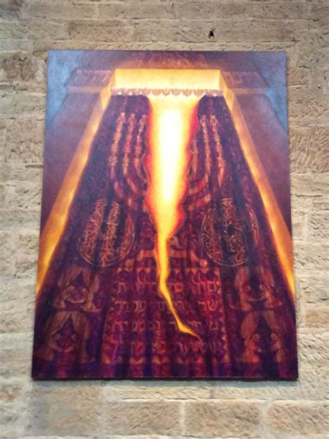 how thick was the curtain in the holy of holies we believe in art the curtain st david s cathedral