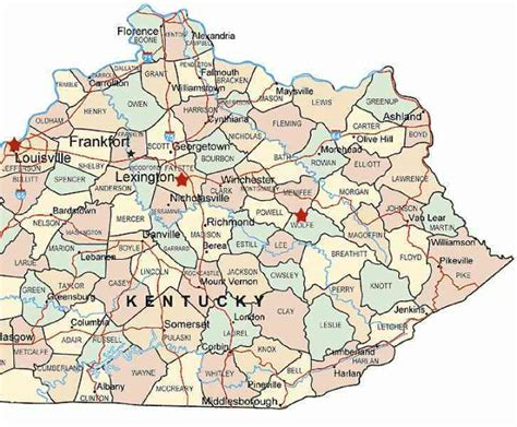 kentucky map eastern kentucky map httptravelsfinderscomkentuckymaphtml