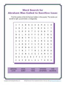 abraham was called to sacrifice isaac word search