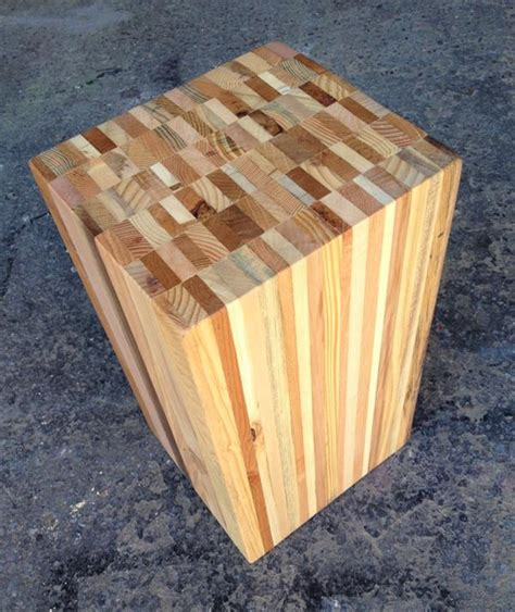 recycled pallet wood stool end table pallet