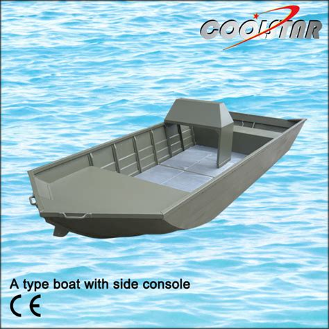 flat bottom boat with console china a type aluminium v head flat bottom boat with side