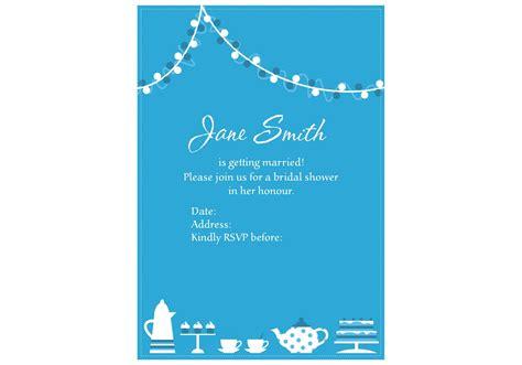 invitation vector  bridal shower