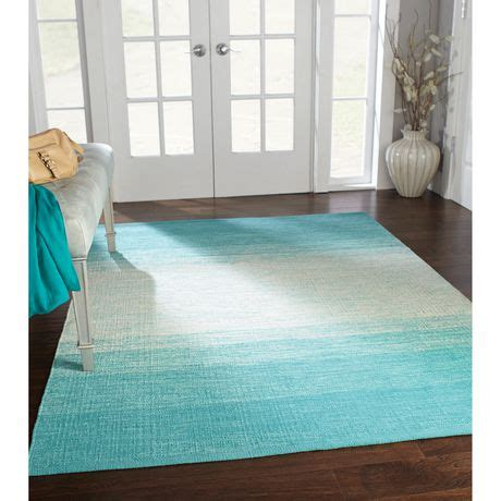 teal ombre rug home trends area rug 4 ft 11 in x 6 ft 9 in turquoise ombre walmart ca