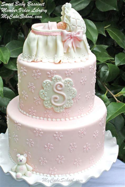 sweet baby bassinet cake topper video tutorial  cake