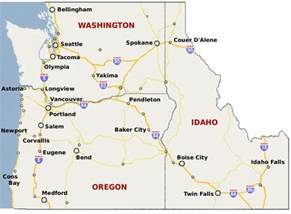 map of idaho and oregon washington could become pot source for neighbors weedist