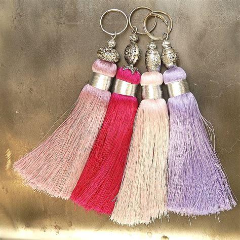 Handmade Tassels - pinks handmade tassels key rings by skoura