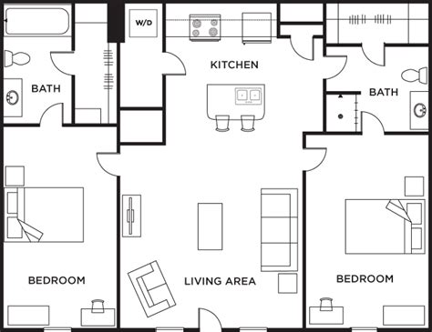 2 bed 2 bath floor plans 2 bedroom 2 bath floor plans gurus floor