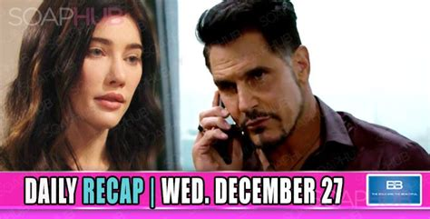 days recap the dna test results are in days recap the the bold and the beautiful recap bb the paternity test