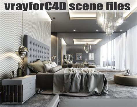 pure luxury bedroom scene 3d models and 3d software by vrayforc4d scene files 3d c4d