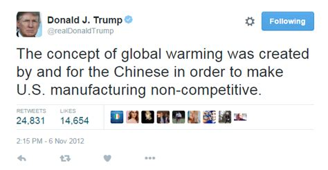 donald trump on climate change yes donald trump did call climate change a chinese hoax