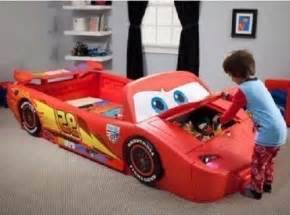 Toddler Car Bedroom Lightning Mcqueen Bed Toddler To Car Box Lights