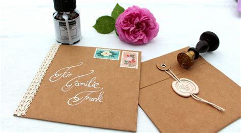 Hochzeitseinladung Umschlag Beschriften by Vintage Einladungskarten F 252 R Deine Hochzeit Zum Selber Basteln