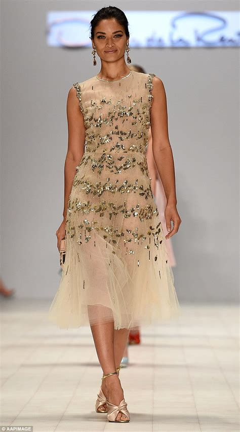 The Oscars Liveblog At Catwalk Shiny Shiny by Shanina Shaik Dazzles At Fashion Week After In The
