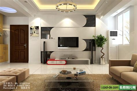 Living Room Tv by Interior Design Of Living Room With Lcd Tv