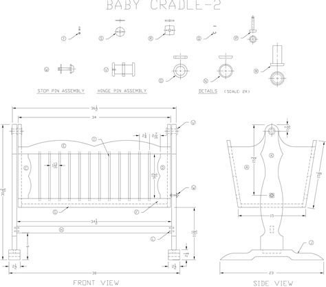 Plans For Building A Baby Crib Free Wood Furniture Plans Page 29 Woodworking Project Ideas