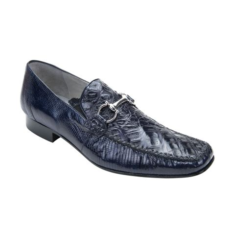 crocodile shoes belvedere italo crocodile lizard bit loafers navy