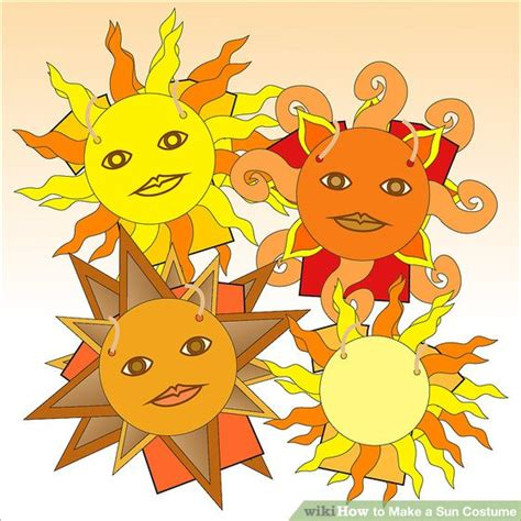 How To Make A Paper Sun - how to make a sun costume 12 steps with pictures wikihow