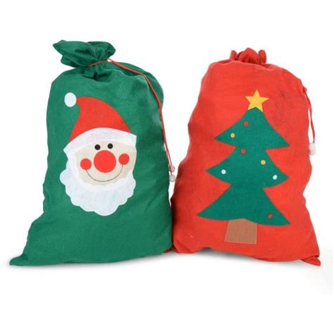 large felt christmas gift bag santa sack two designs