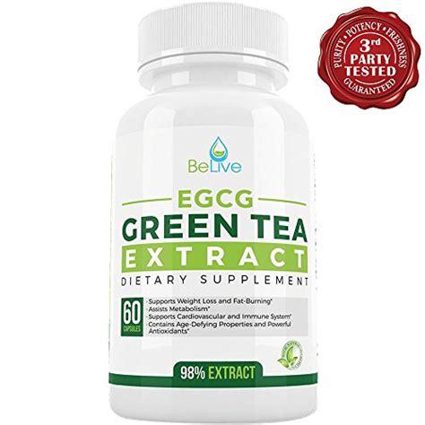 Green Tea Detox Diet Pills by Green Tea Supplement Egcg Belly Burner Weight Loss