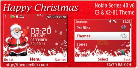nokia c3 christmas themes happy christmas theme for nokia c3 x2 01 asha 200 201