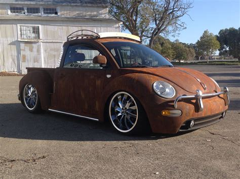 volkswagen bug truck is this one of the coolest vw new beetles around or what