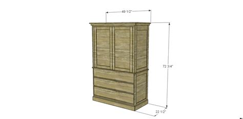 armoire building plans plans to build a two piece armoire designs by studio c