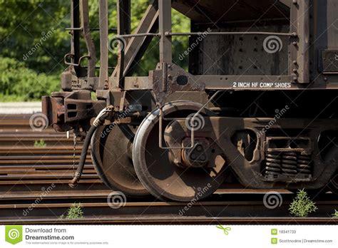 Railway Car Metal Diskon steel railroad car wheels stock image image 18341733