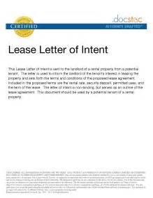Exle Of Commercial Lease Letter Of Intent Sle Letter Of Intent To Lease Office Space